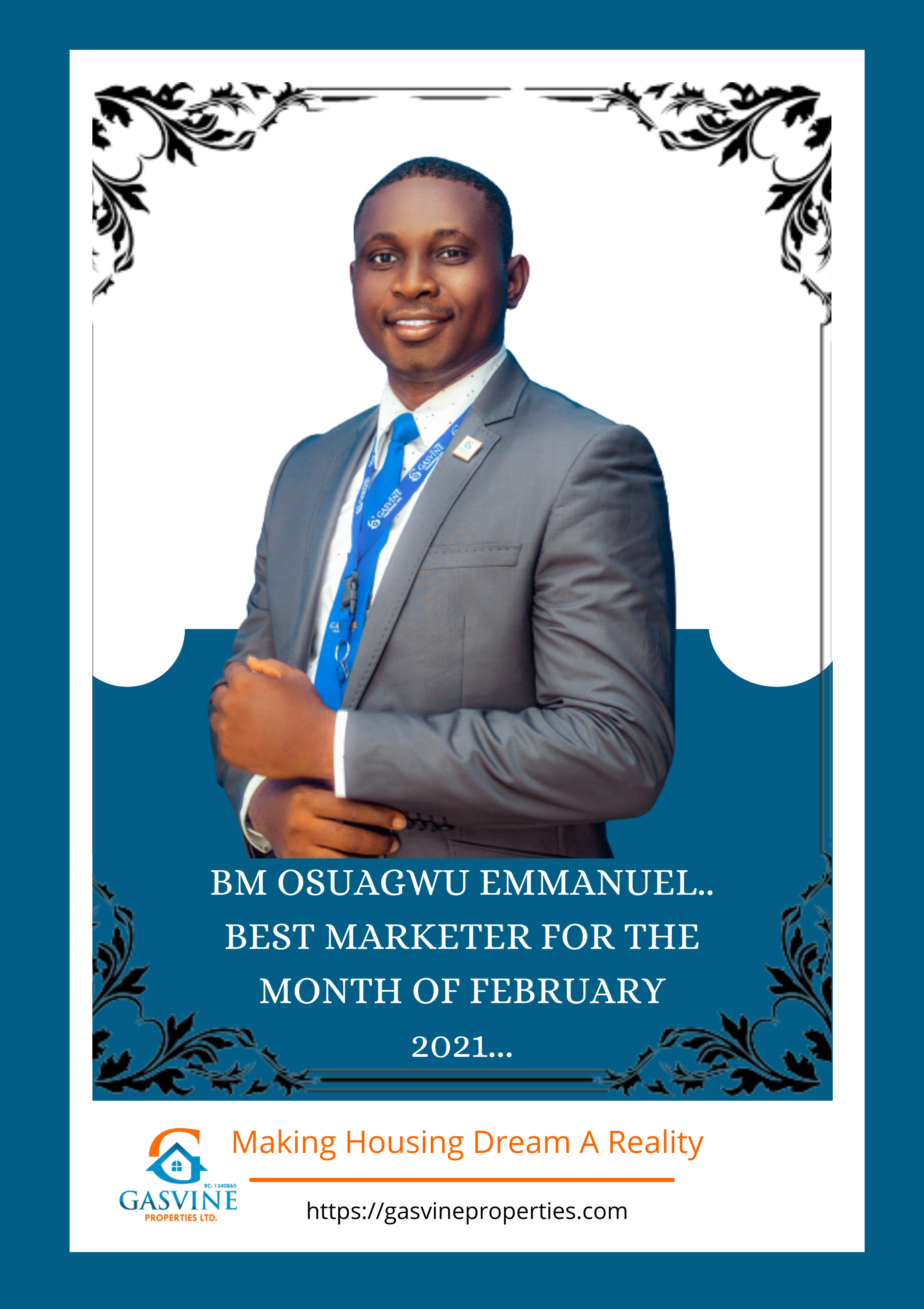 Best Marketer for the month of february 2021